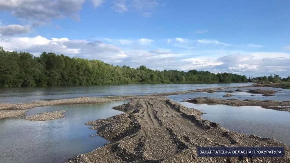 Глава закарпатского районного управления водного хозяйства уличен в содействии незаконной добыче ископаемых